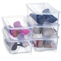 Kit 5 Caixas Organizadoras para Sapatos 36x22x12 cm Modelo 1816 Grande Organizador Arthi -