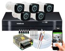 Kit 5 Camera de Segurança Infravermelho Full Hd Dvr Intelbras 8ch S/hd -