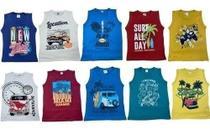 Kit 5 Camisa Regata Masculino Infantil Central Kids - Centra Kids