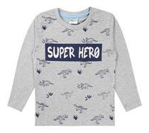 Kit 5 Camiseta Manga Longa Menino 10 ao 14 Anos - Pimpolho