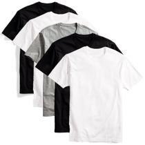 Kit 5 camisetas básicas masculina t-shirt algodão colors tee - Part.B