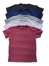 Kit 5 Camisetas Masculina Slim Básicas Algodão 30.1 Premium - Clicknet