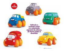Kit 5 Carrinho Soft Cars Mordedor Para Bebe  - Divertoys -