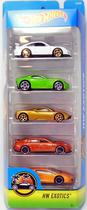 Kit 5 carrinhos - Hot Wheels - HW Exotics - DJD29