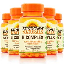 Kit 5 Complexo B Sundown 100 Comprimidos - Sundown naturals vitaminas