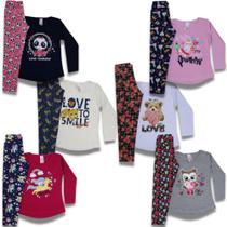 Kit 5 Conjunto Infantil Feminino Inverno Outono Meia Estação Roupa Infantil Menina Atacado CD505 - Analê