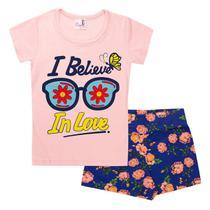 Kit 5 Conjuntos Infantil Feminino Cotton Verão - Nany