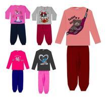 Kit 5 Conjuntos Infantil Menina Feminino Atacado Inverno Off - Dubabox