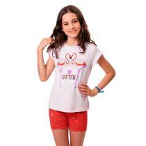 Kit 5 Conjuntos Infantis Menina Cotton Verão Feminino - Moderna Fashion