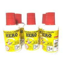 Kit 5 Corretivos Líquidos 18ml Base d'Água Hero 0248 -