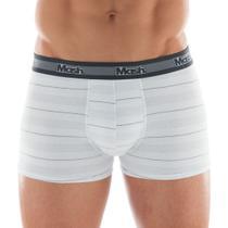 Kit 5 Cuecas Boxer Mash Algodão Cotton Box Masculina Adulto Cores Sortidas Com Elastano -