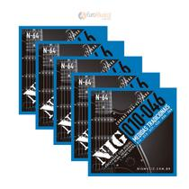 Kit 5 Encordoamentos Guitarra Nig Tradicional .010/.046 N64 -