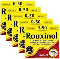 Kit 5 Encordoamentos Violao Aco Inox Rouxinol R50 Com Bolinha -