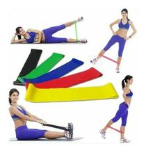 Kit 5 Faixa Mini Band yoga reabilitação de lesões uso pós ci - Lfs