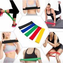 Kit 5 Faixas Elásticas de Resistência para Yoga Pilates Gym - Ultravendas