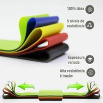 Kit 5 Faixas Elásticas Mini Band Loop Exercicios Fitness - parede