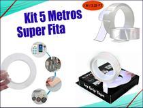 Kit 5 Fitas Adesiva Magica Dupla Face 1Metro - M&C
