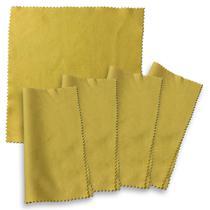 Kit 5 Flanelas para instrumentos 20x20 cm Standard Cloth -