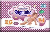 Kit 5 Fraldas Diguinho Plus Economica Eg - 24 Unidades Barato -