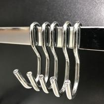 Kit 5 Ganchos Para Utensílios De Cozinha Modelo S - Metalcromo