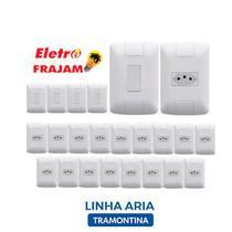 Kit 5 interruptores + 20 tomadas Tramontina Aria -