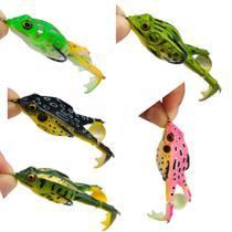 Kit 5 Iscas Artificiais Frogs Whopper Anti Enrosco Hélice - CM FIshing