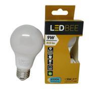 KIT 5 Lampadas LED Bulbo A60 9w Branca LEDBee - Led Bee