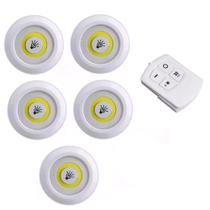 Kit 5 Lampadas Luminaria Led Teto Controle Sem Fio Spot Remoto 25w Cozinha Casa - Economia Solar
