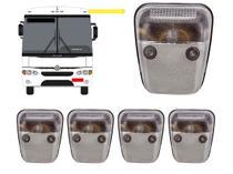 KIT 5 Lanterna Dianteira Teto Vigia Cristal C/ Soquete - Ônibus Marcopolo GV 1000 Viaggio Paradiso - Silo