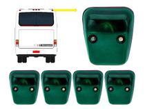 KIT 5 Lanterna Traseira Teto Vigia Verde C/ Soquete - Ônibus Marcopolo GV 1000 Viaggio Paradiso - Silo