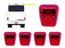 KIT 5 Lanterna Traseira Teto Vigia Vermelha C/ Soquete - Ônibus Marcopolo GV 1000 Viaggio Paradiso - Silo