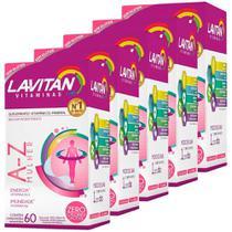 Kit 5 Lavitan A-z Mulher Polivitamínico 60 Comprimidos - Cimed