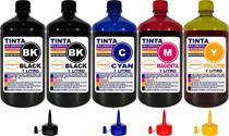 Kit 5 Litros Tinta Compatível Epson L395 L396 L495 L475 L455 - Authentic
