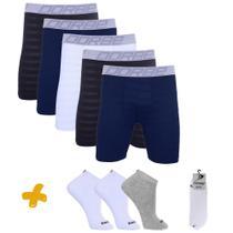 Kit 5 Long Leg New Skin + 3 Pares Meia Dorbe -