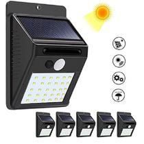Kit 5 Luminária Solar Jardim Iluminação Residencial  30 Leds - CONCISE FASHION STYLE