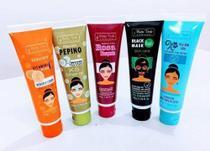 Kit 5 Mascara Facial Mato Verde Profissional Bisnaga Vitamina C Esfoliante Pepino Black e Rosa Mosqueta - Matto Verde