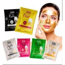 Kit 5 Máscaras para limpeza Facial Phállebeauty cravos/Anti Idade/Vitamina C - Phallebeauty