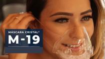 Kit 5 Mascaras Transparentes Com Filtro M19 Lavável Vedação 100% - Mascara Cristal