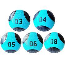 Kit 5 Medicine Ball Liveup PRO 3 4 5 6 e 8 kg Bola de Peso Treino Funcional LP8112 -