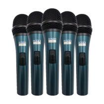 Kit 5 Microfones Com Fio TK-51C Onyx -
