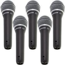 Kit 5 Microfones Dinâmico Cardióide  Q7 Samson -