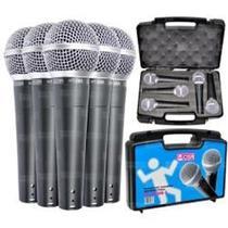 Kit 5 Microfones Dinâmico de Mão  Ht 58 - CSR -