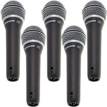 Kit 5 Microfones Dinâmico Super Cardióide Xlr Q7 Samson -