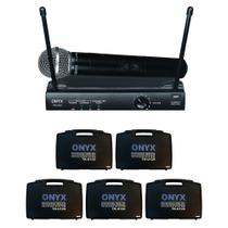Kit 5 Microfones Sem Fio TK-U120 UHF Onyx -