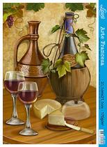 Kit 5 Papel Decoupage Arte Francesa Vinho e Queijo AF-211 31,1x21,1cm Litoarte -