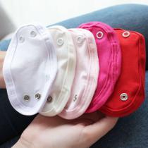 Kit 5 Peças Extensores de Body 2 Botões Malha Liso Branco, Palha, Rosa, Pink e Vermelho - Mais Que Baby