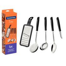 Kit 5 Peças Utensílios de Cozinha Inox Tramontina -