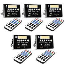 Kit 5 Placas Para Amplificador Módulo G377 400W RMS Bluetooth USB SD Rádio FM MP3 Preto Controle - Ultra