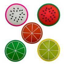 Kit 5 Porta Copos Formato De Fruta Suporte Descanso Modelos Sortidos - Universal Vendas
