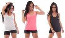 Kit 5 Regatas Feminino academia fitness - M - Fitstore